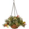 The Seasonal Aisle Wintry Pine Hanging Basket
