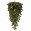 The Seasonal Aisle Girlande Tea Drop with Berry, Cone and Leaf Swag