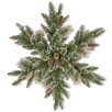 The Seasonal Aisle Sparkling Pine Snowflake with Cone