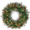 The Seasonal Aisle Wintry 91.44cm; PVC Berry, Holly Leaf and Pine Wreath