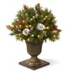 The Seasonal Aisle Frosted Berry Pine Cone Porch Bush