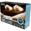 The Seasonal Aisle Low LED Snowing 960 Light Icicle Light
