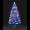 The Seasonal Aisle 4' Green Artificial Christmas Tree with 140 Flashing Colour Change LED Lights with Stand