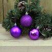 The Seasonal Aisle 3 Piece Purple Ball Ornament Set (Set of 6)