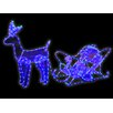 The Seasonal Aisle Standing Reindeer and Sleight Ice Rope Light