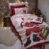 The Seasonal Aisle Retro Santa Duvet Set