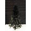 The Seasonal Aisle 180cm Black Pine Christmas Tree with Stand