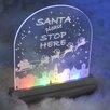 The Seasonal Aisle 3-tlg. LED-Fensterbild 10-flammig Santa Stop Here