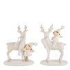 The Seasonal Aisle 2 Piece Standing Reindeer and Child Set