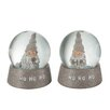 The Seasonal Aisle 2 Piece Snow Globe Santa Claus Snowglobes Set
