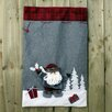 The Seasonal Aisle 2 Piece Velors Santa and Snow Man Sack Set