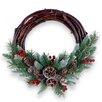 The Seasonal Aisle 40.64cm; PVC Berry and Grapevine Wreath