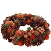 The Seasonal Aisle 34cm; Pinecone, Acorn, Branch and Leaf Wreath