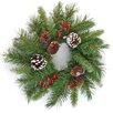 The Seasonal Aisle 45.72cm; PVC Berry and Pine Wreath