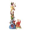 Heartwood Creek Wish Big Santa's stacked magic toy bag Figurine