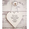 Ladeda! Living Home is where Love Resides, Memories are Created, Friends are always Welcome and Family is Forever Loveheart Wall Decor