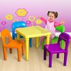 OxGord Kids 5 Piece Square Table and Chair Set