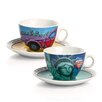 Egan 4 Piece Freedom and Diane Cappuccino Cup with Saucer Set