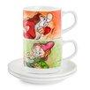 Egan 4 Piece Espresso Cup Grumpy and Dopey with Saucer Set