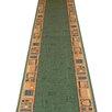 Carpet Runners UK Jena Green Area Rug