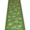 Carpet Runners UK Bora Green Area Rug