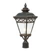 Y Decor Cheri 1 Light Outdoor Post Light