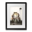 Pingo World 'Phone Booth Spies' by Banksy Framed Graphic Art