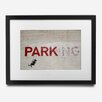Pingo World 'Parking' by Banksy Framed Graphic Art