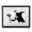 Pingo World 'Flower Thrower' by Banksy Framed Graphic Art
