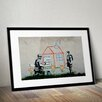 Pingo World 'Crayon House Foreclosure' by Banksy Framed Graphic Art
