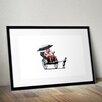 Pingo World 'Rickshaw' by Banksy Framed Graphic Art
