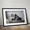 Pingo World 'Banksy Baby' by Banksy Framed Graphic Art