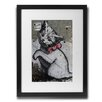 Pingo World 'Kitten With Pink Bowl' by Banksy Framed Graphic Art