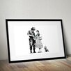 Pingo World 'Dorothy Police Search' by Banksy Framed Graphic Art