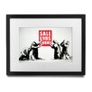 Pingo World 'Sales Ends Today' by Banksy Framed Graphic Art