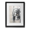 Pingo World 'Girl With A Pierced Eardrum' by Banksy Framed Archival Graphic Art