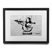 Pingo World 'Mona Lisa With Bazooka Steel Edition' by Banksy Framed Graphic Art