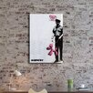 Pingo World 'Balloon Dog on Guard Duty' by Banksy Painting Print on Wrapped Canvas