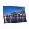 "Pingo World City Skylines ""Miami"" Photographic Print on Wrapped Canvas"