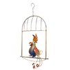 Bali Garden Metal Blue Bird on Cage Perch Garden Statue - G.W. Schleidt Inc. Garden Statues and Outdoor Accents