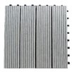 "Century Outdoor Living Composite 12"" x 12"" Interlocking Deck Tiles in Concrete Gray"