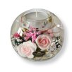Dreamlight Teelichthalter Little Rose aus Glas