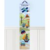 Toad and Lily Personalized Patchwork Transportation Growth Chart