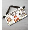 Toad and Lily Forest Critter Kids Personalized Bedroom Door Sign