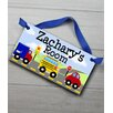 Toad and Lily Vehicle Transportation Personalized Bedroom Door Sign