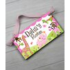 Toad and Lily Jungle Personalized Bedroom Door Sign