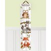 Toad and Lily Forest Critters Woodland Kids Personalized Canvas Growth Chart