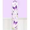 Toad and Lily Butterfly Garden Personalized Canvas Growth Chart