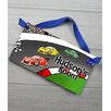 Toad and Lily Race Car Personalized Bedroom Door Sign
