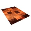 Vercai Rugs Shadow Terra/Black Area Rug
